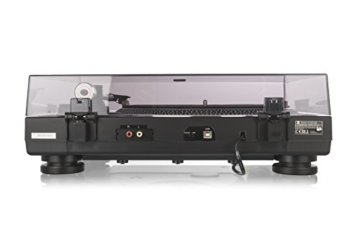 Dual DT 250 USB Plattenspieler (33/45 U/min, Magnet-Tonabnehmer-System, USB-Anschluss, Entzerrer-Vorverstärker, Pitch-Control) schwarz -