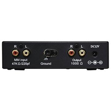 Hama Stereo Phono-Vorverstärker PA 506 (Für Plattenspieler, Inkl. Netzadapter 230V/50Hz, 300mA, Cinchkabel 0,9 m) schwarz - 2