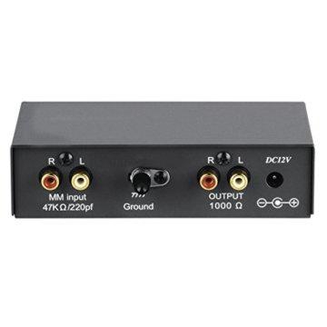 Hama Stereo Phono-Vorverstärker PA 506 (Für Plattenspieler, Inkl. Netzadapter 230V/50Hz, 300mA, Cinchkabel 0,9 m) schwarz - 6