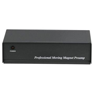 Hama Stereo Phono-Vorverstärker PA 506 (Für Plattenspieler, Inkl. Netzadapter 230V/50Hz, 300mA, Cinchkabel 0,9 m) schwarz - 7